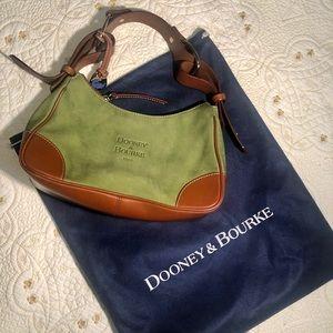 Dooney & Bourke Green Suede Shoulder bag